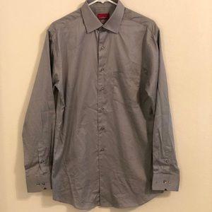 Men's Alfani Dress Shirt Medium Charcoal/gray